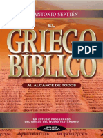 Antonio Septien - Griego Biblico (Limitado)