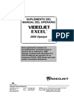 Manual de operario Videojet 2000