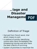 Triage and Disaster Management