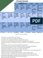 1. Cronograma Alfacon de Estudo INSS