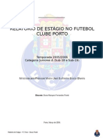 Relatório de Estágio No Futebol Clube Porto