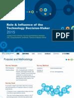 2015 IDG Enterprise Role & Influence of the Technology Decision-Maker Survey