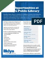 Brooklyn Public Library Job Fair Flyer Color