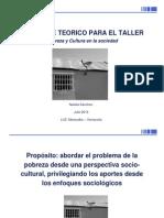 Primer Taller; Abordaje de La Pobreza y La Cultura