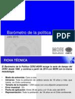 Barómetro de La Política CERC MORI Julio 2015