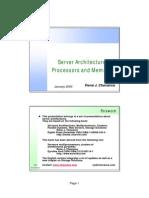 ServerArchitectures-ProcessorsandMemories