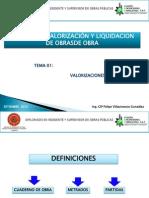 Modulo III, Adicionales y Elaboracion de Valorizaciones de Obras