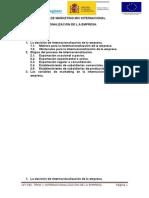 UF1782. Unidad 1 Internacionalizacion de La Empresa