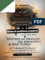 Corso di scrittura creativa - Ottobre 2015, Roma
