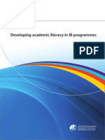 Developing Academic Literacy in IB Programmes (Aug 2014)