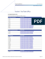 CCNA Curriculum List of YouTube URLs