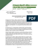 Gulf County Sheriff's Office LAW ENFORCEMENT SUMMARY  JULY 13, 2015 – JULY 19, 2015