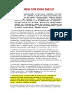 Jurisprudencia - Art.766 CC e Aviso Tardio