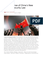 Making Sense of China's New National Security Law