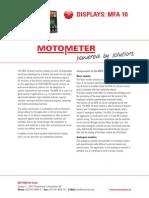 Multi-functional Display MFA 10