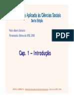 Estatistica Aplicada a Ciencias sociais