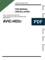 Avic-hd3ii Installation Manual en Fr de Nl It Es