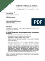 FCB113-Introducao a Sociologia Licenciatura