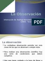 La Observación científica