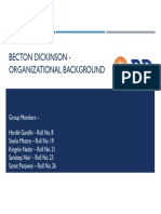 Becton Dickinson - Orgnaisational Background