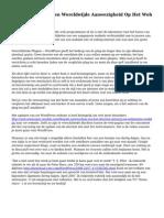 Het Smeden Van Een Wereldwijde Aanwezigheid Op Het Web Met Wordpress