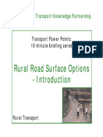 Rural Road Surface Options