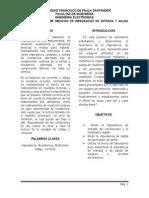 PRACTICA #8  MEDICIÓN  DE  IMPEDANCIAS  DE  ENTRADA  Y  SALIDA