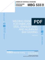 MBG_533-09 Welding Standards for Fabrication of Steel Stainless Steel and Aluminium Bar Grating