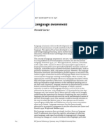 Language Awareness - ELT Journal