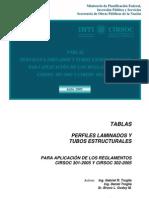 Tablas de Perfiles y Tubos segun CIRSOC 301-2005