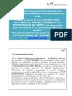 Diagnóstico, Recuperação, Reforço e Proteção de Estruturas de Concreto
