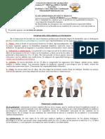 Guía de Aprendizaje Sexto Básico Etapas Desarrollo Humano