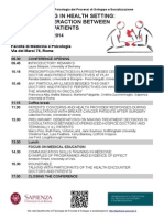 Communicating in Health Setting 4 Dicembre Dppss Sapienza Roma