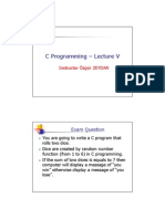 C Programming - Lecture V