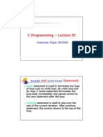 C Programming - Lecture IV