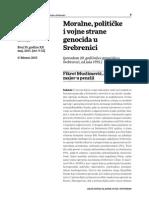 Fikret Muslimović - Moralne, političke i vojne strane genocida u Srebrenici