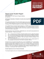 Report of the Student Regent (June-July 2015 )