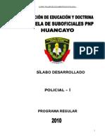 Silabus Desarrollado de Documentacion Policial i - 2010 (3)