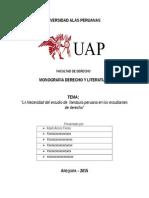 Monografia Derecho y Literatura 2015