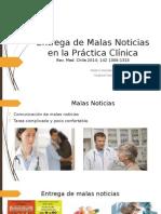 Entrega de Malas Noticias en La Práctica Clínica