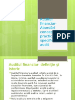 Auditul Financiar-Abordări Conceptuale Şi Practici Specifice De