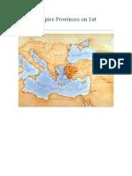 Roman Empire Provinces on 1st Century