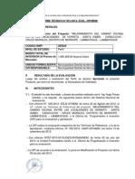 Informe Tecnico Trocha HORNITOS