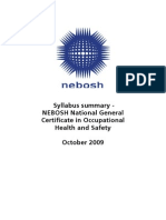 NEBOSH GC Course Summary