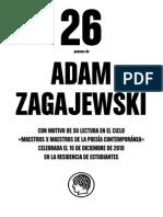 Poemas de Adam Zagajewski