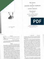 Hopkins Letters