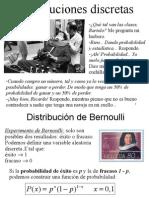 Distribuciones-Discretas Binomial Poisson Hipergeometrica Normal Aprox. de La Binomial a La Normal. 20325