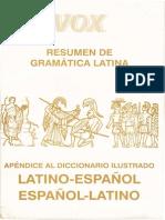 Voz Resumen de Gramatica Latina