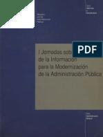 Jornadas Sobre Tecnologías de La Información Para La Modernización de La Administración Pública