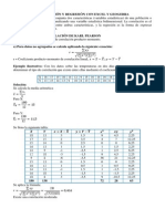 Correlación y Regresión Con Excel y Geogebra